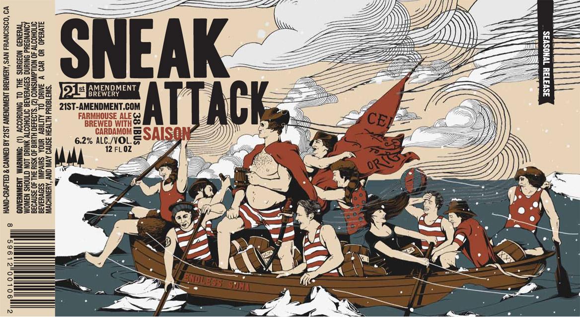 21st Amendment Sneak Attack Saison - Beer Street Journal