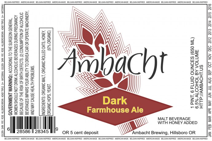 Ambacht Dark Farmhouse Ale Beer Street Journal