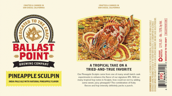 Ballast Point Pineapple Sculpin cans