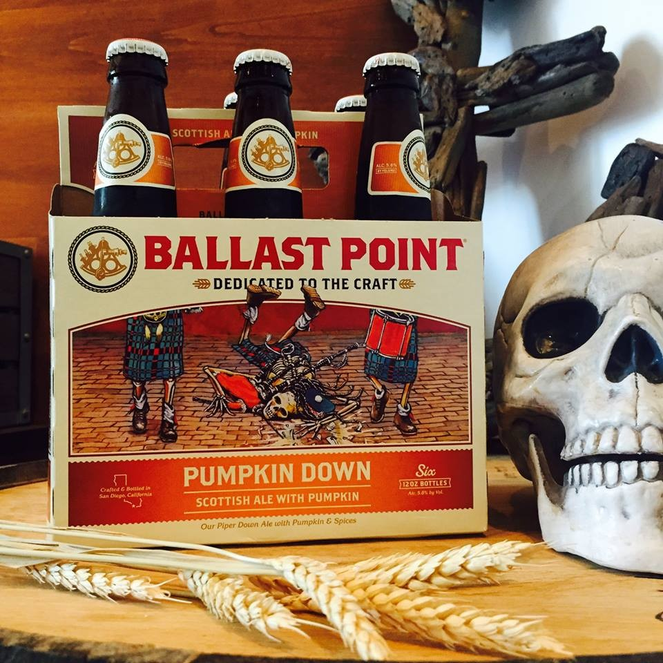 Ballast Point Pumpkin Down Bottles