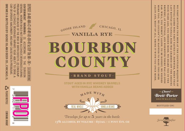 Goose Island Bourbon County Vanilla Rye