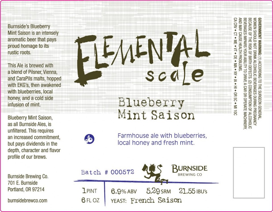 Burnside Blueberry Mint Saison