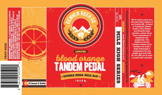 Denver Beer Blood Orange Tandem Pedal