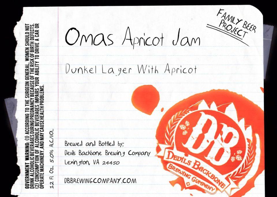 Devil's Backbone Omas Apricot Jam