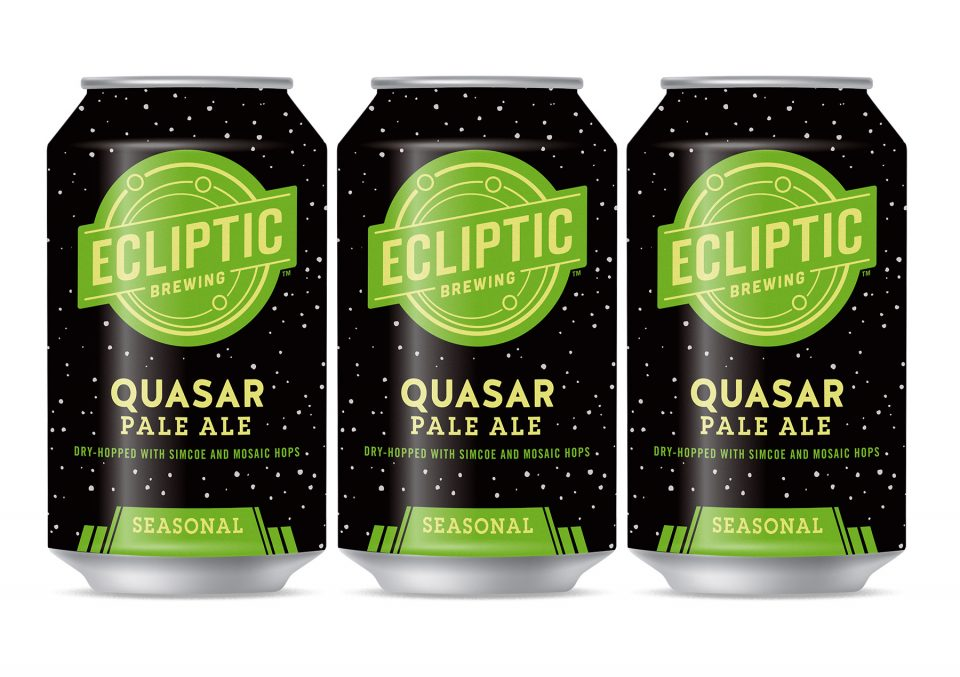 Ecliptic Quasar Pale Ale cans