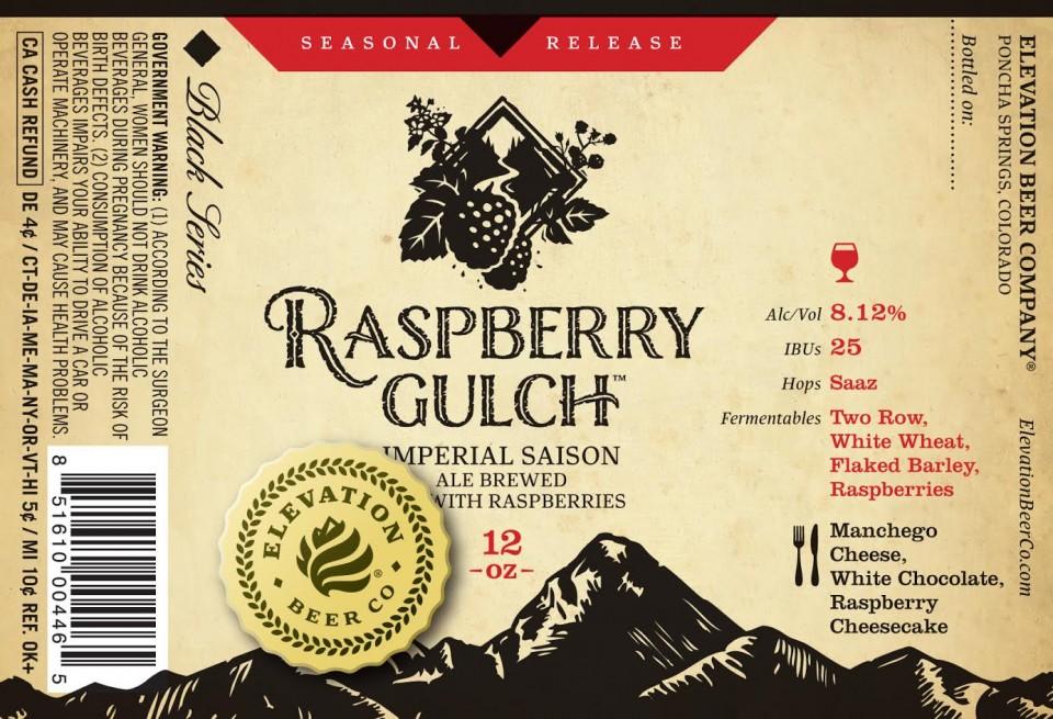 Elevation Raspberry Gulch 2016