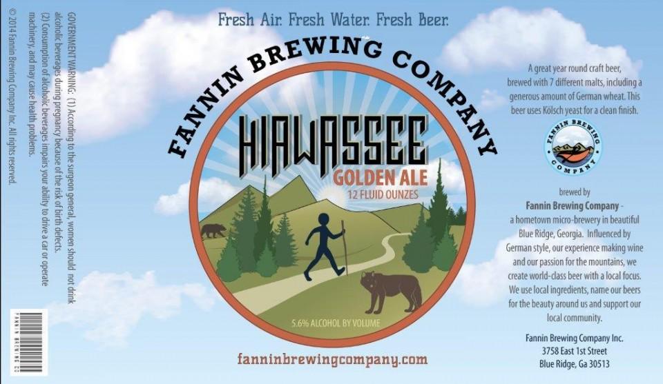 Fannin Brewing Co. Hiawasse Golden Ale