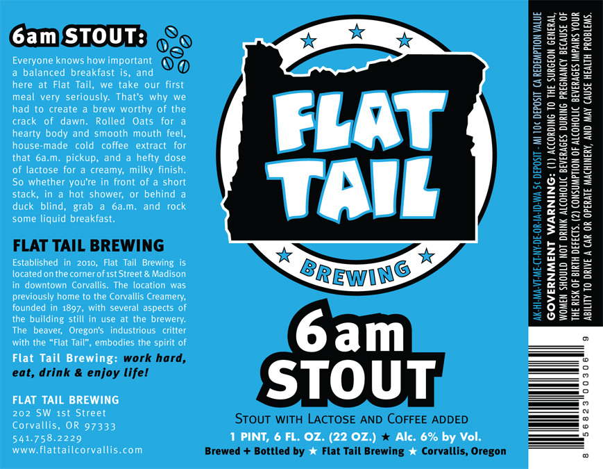 Flat Tail 6am Stout