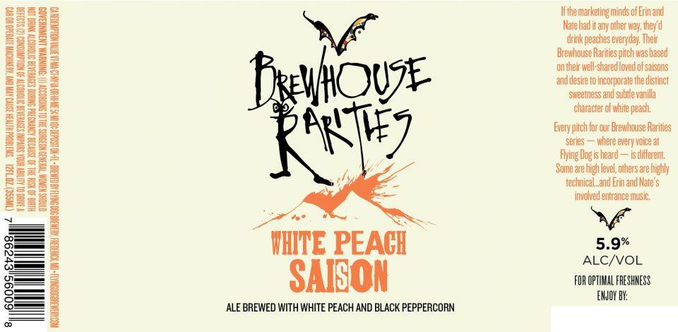 Flying Dog Brewhouse Rarities White Peach Saison