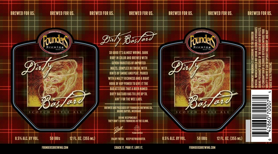 Founders Dirty Bastard Cans