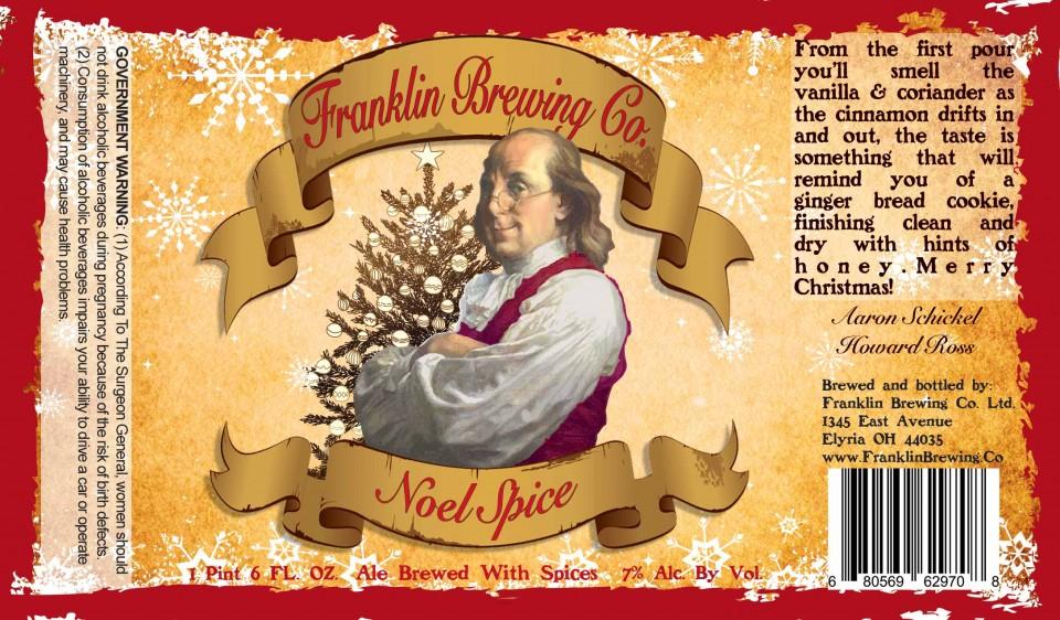 Franklin Brewing Co Noel Spice