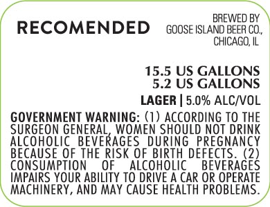 Goose Island Recomended