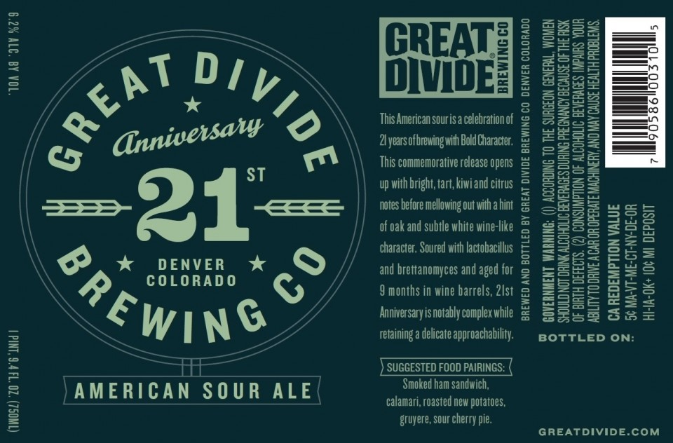Great Divide 21st American Sour Ale