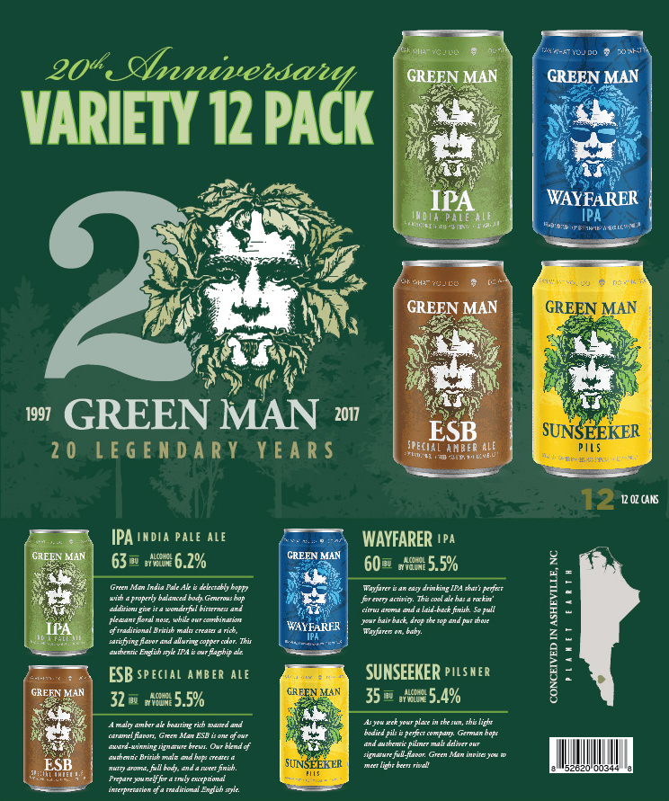 Green Man 20th Anniversary Variety Pack