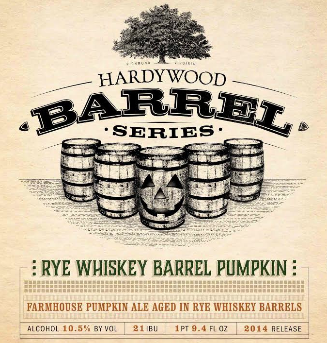 Hardywood Rye Whiskey Barrel Pumpkin