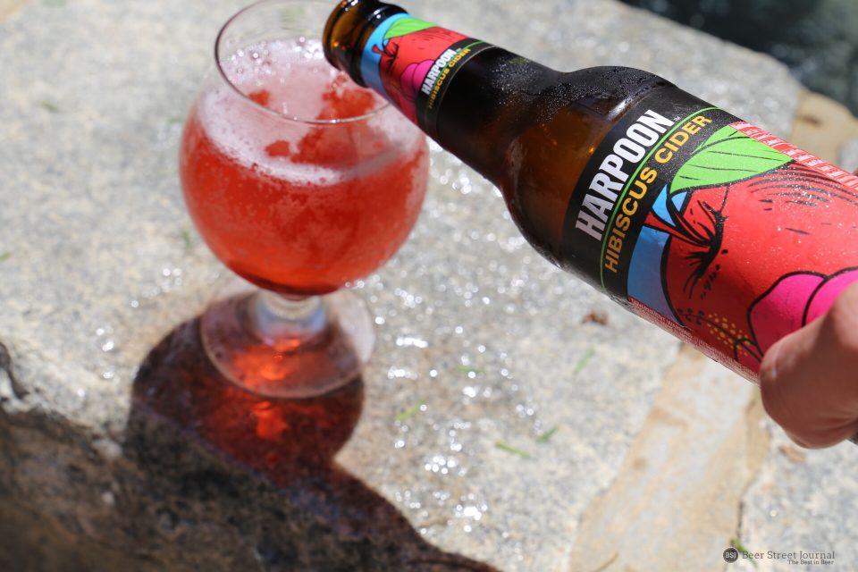 Harpoon Hibiscus Cider bottle