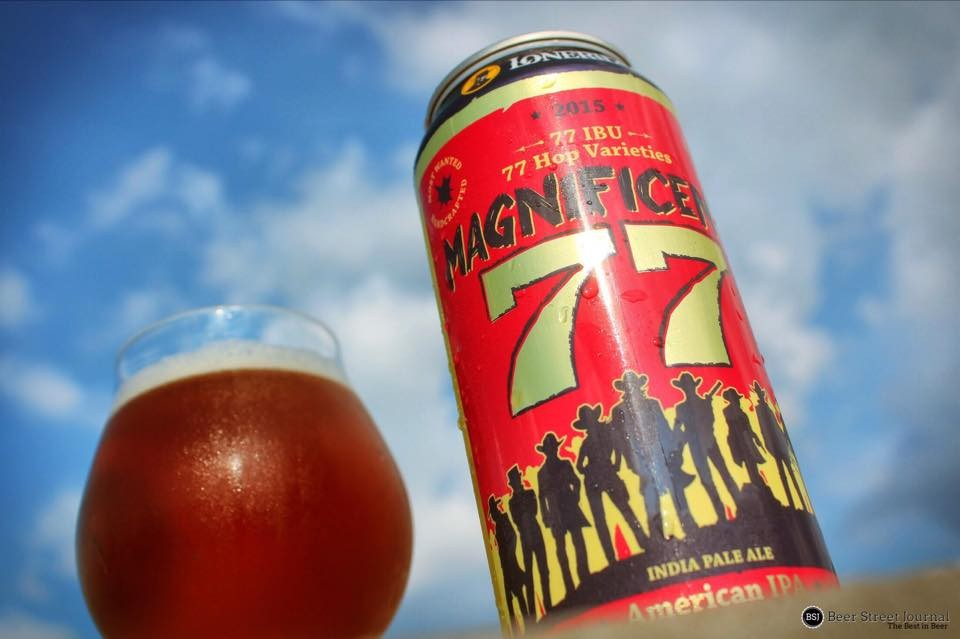 Lonerider Magnificent 77 IPA can