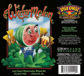 Lost Coast Watermelon Wheat Ale