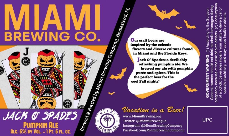 Miami Brewing Jack O' Spades