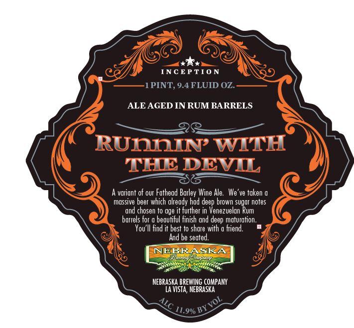 Nebraska Brewing Runnin With the Devil
