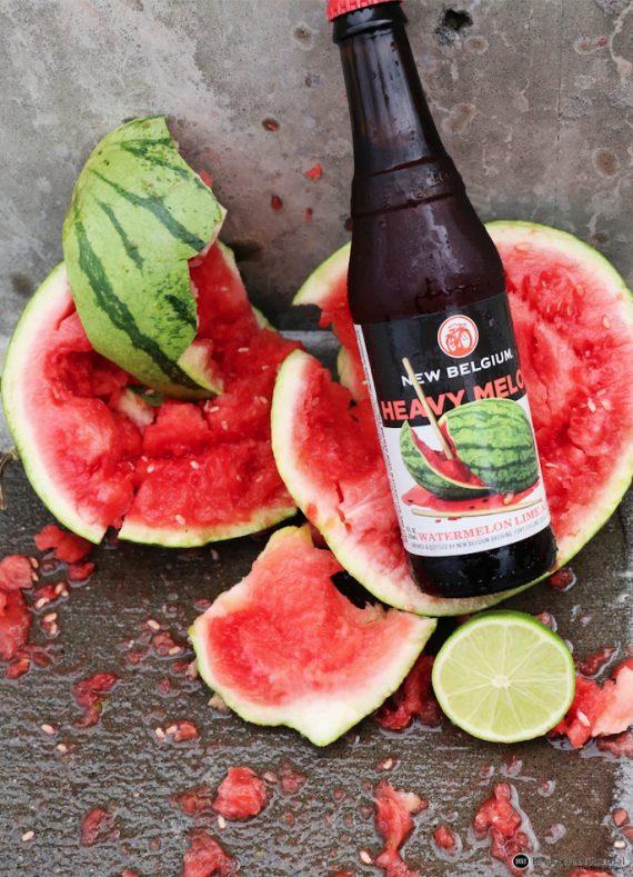 New Belgium Heavy Melon bottle