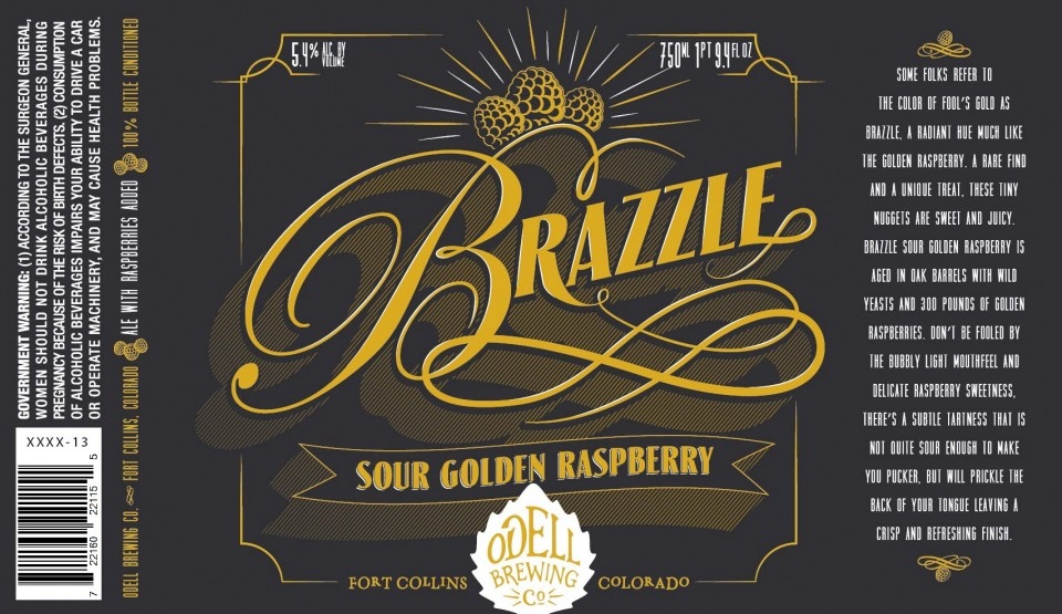 Odell Brazzle Sour Golden Raspberry