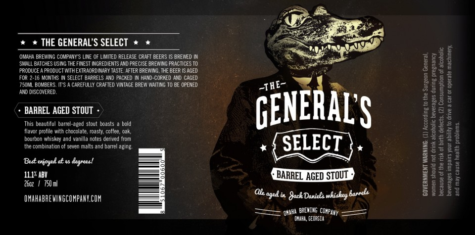 Omaha General's Select Barrel Aged Stout