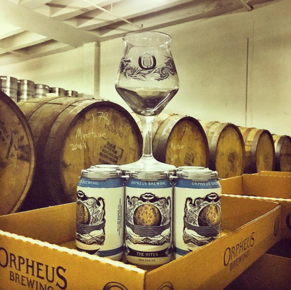Orpheus Brewing The Rites glass