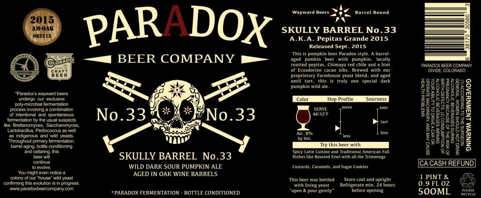 Paradox Skully Barrel No. 33