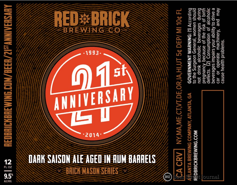 Red Brick 21st Anniversary WM