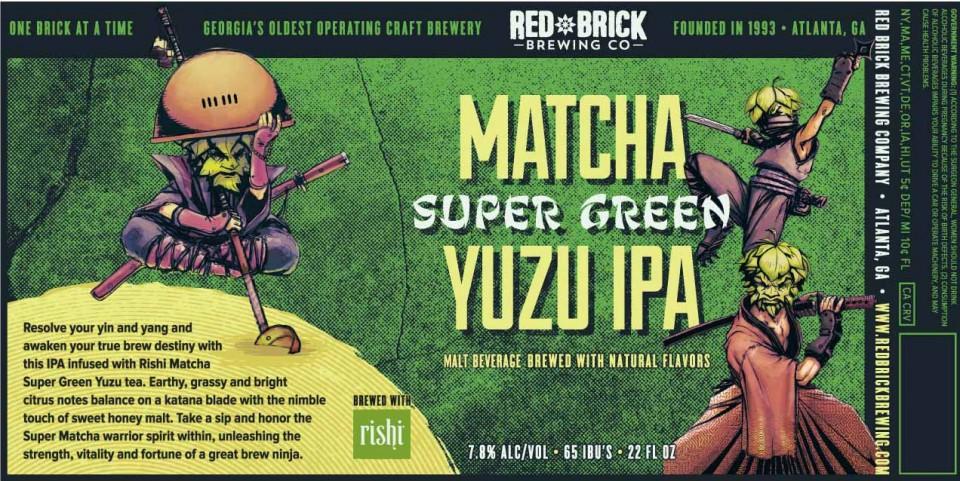 Red Brick Matcha Super Green Yuzu IPA