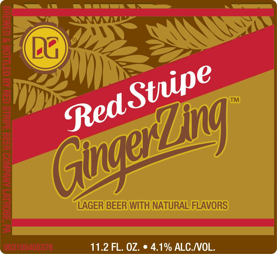 Red Stripe Ginger Zing