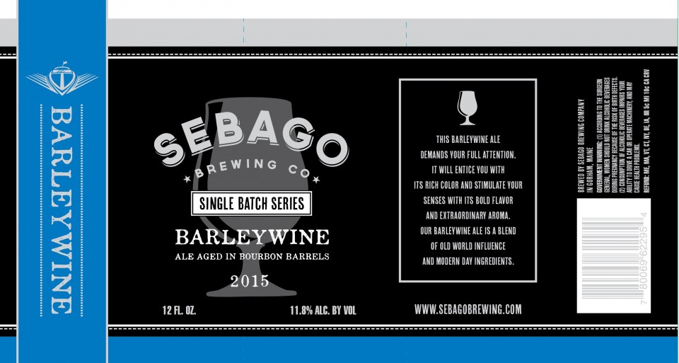 Sebago Brewing Bourbon Barrel Barleywine
