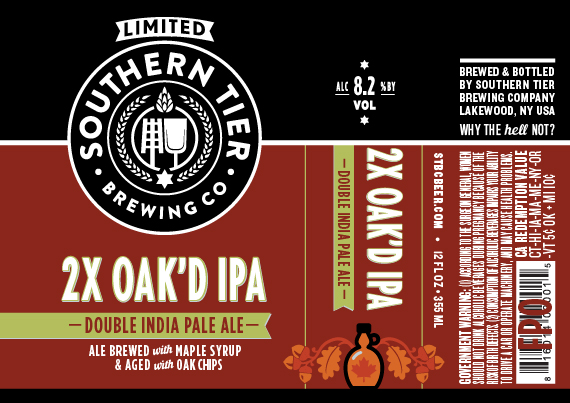 Southern Tier 2X Oak'd IPA