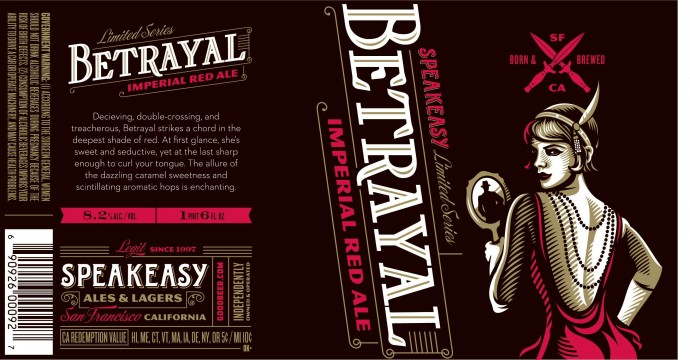 Speakeasy Betrayal Imperial Red Ale