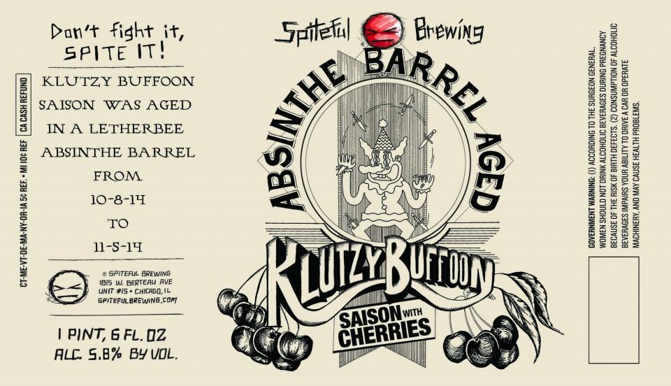 Spiteful Brewing Absinthe Barrel Aged Klutzy Buffoon