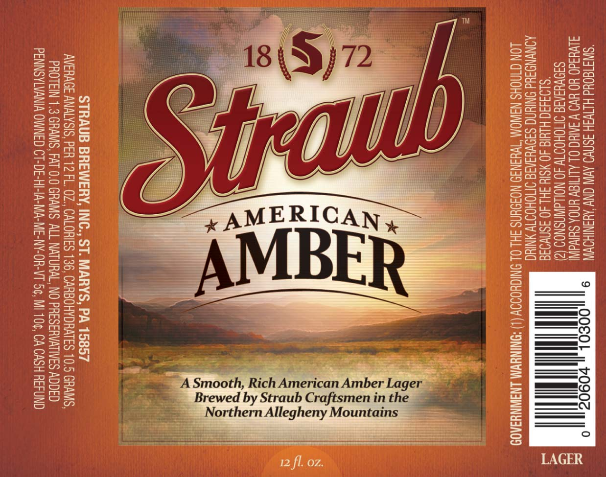 Published April 9, 2012 at 1238 × 975 in Straub American Amber Ale ...