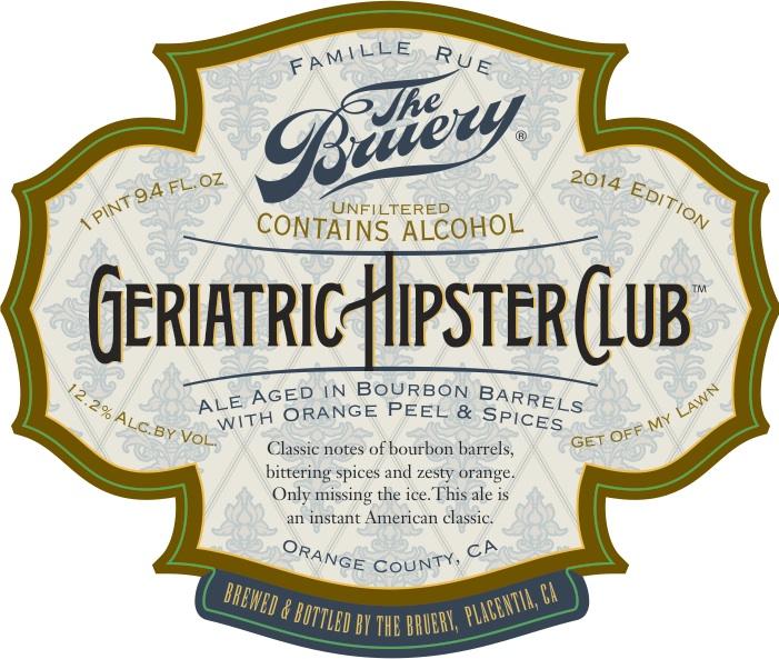 The Bruery Geriatric Hipster Club