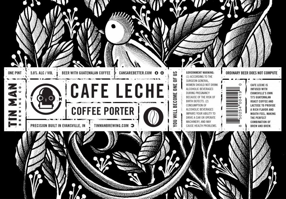 Tin Man Cafe Leche Coffee Porter