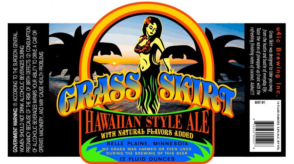 U4IC Brewing Grass Skirt Hawaiian Style Ale