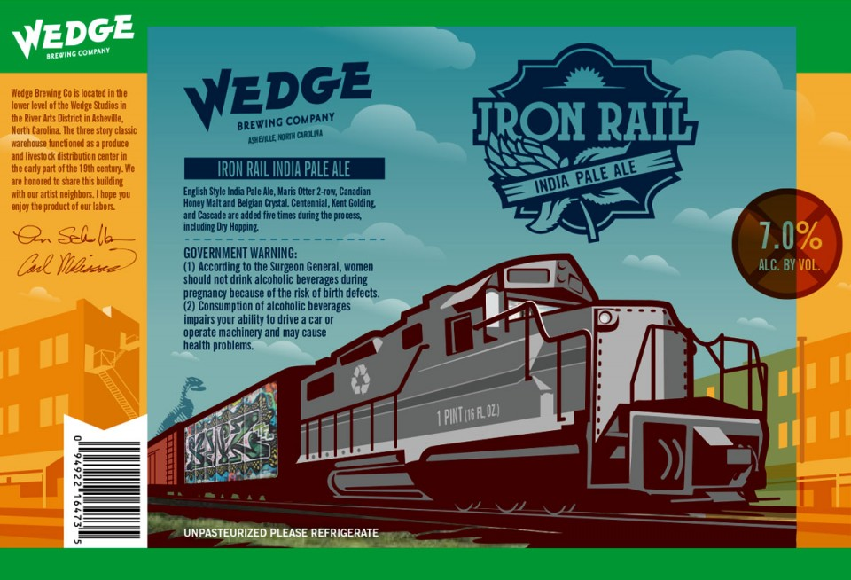 Wedge Brewing Iron Rail India Pale Ale