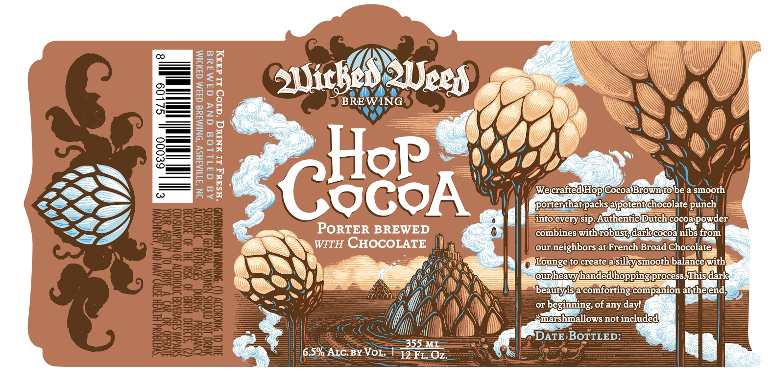 Wicked Weed Hop Cocoa, with French Broad Chocolate - Beer Street ...
