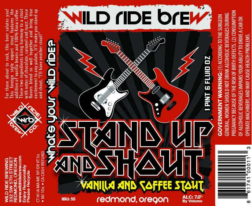 Wild Ride Brew Stand Up and Shout
