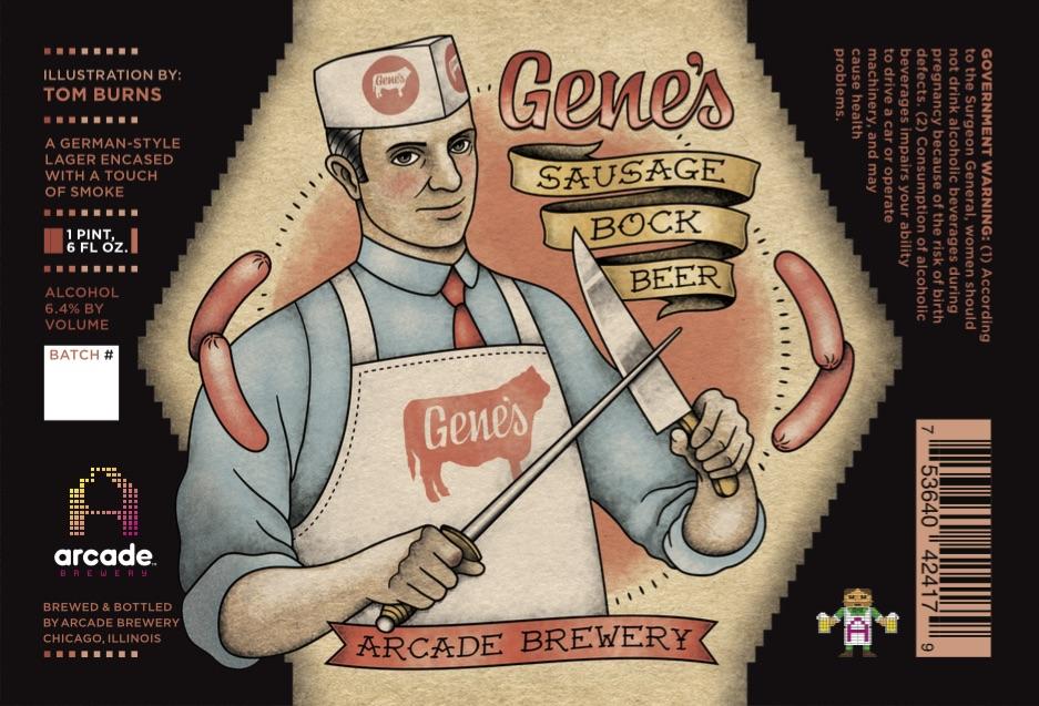 Arcade Brewery Gene's Sausage Bock Beer