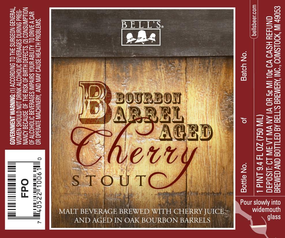Bell's Brewery Bourbon Barrel Aged Cherry Stout