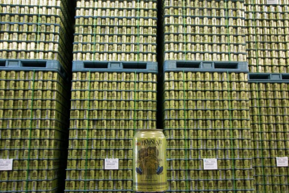 Bell's Hopslam cans brewery