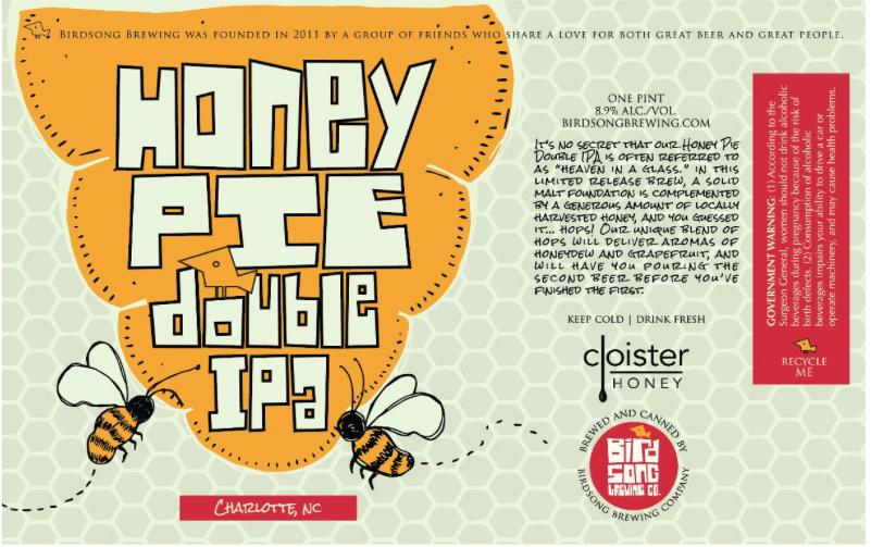 Birdsong Honey Pie Double IPA