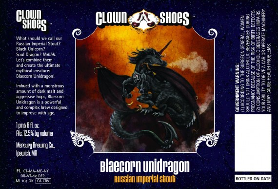 Clown Shoes Brewing Blaecorn Unidragon