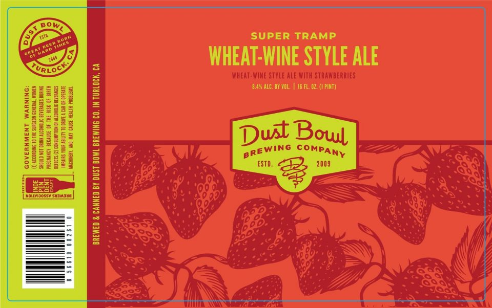 Dust Bowl Super Tramp Wheat Wine with Strawberries