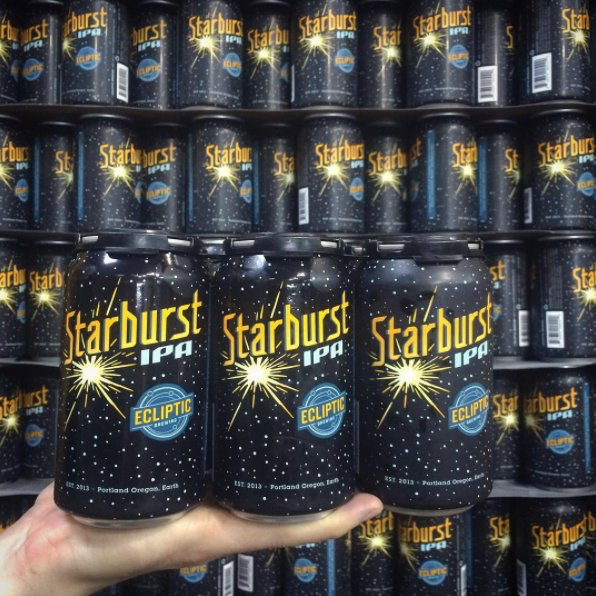 Ecliptic Starburst IPA cans